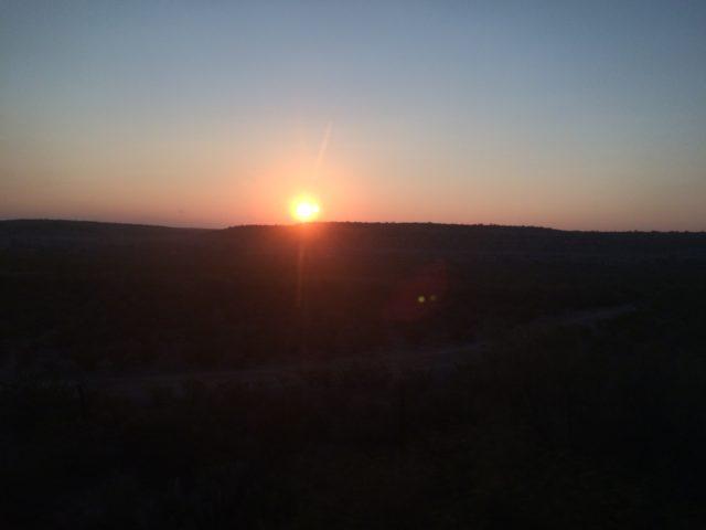 West Texas Sunrise Aboard Amtrak