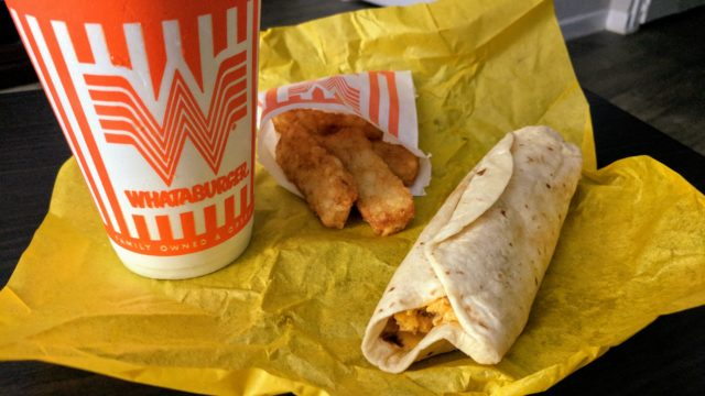 Whataburger Chorizo Taquito Meal San Antonio Restaurants
