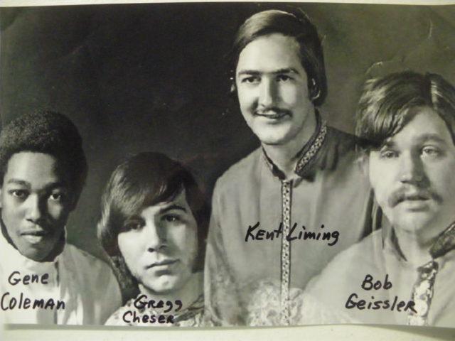 Swiss Movement Publicity Photo, Gene Coleman, Gregg Cheser, Kent Liming, Bob Geissler