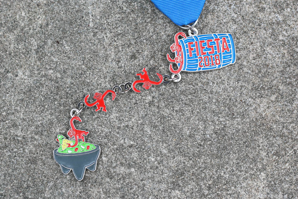 Barrel of Monkeys Fiesta Medal 2018 by Alan Bush