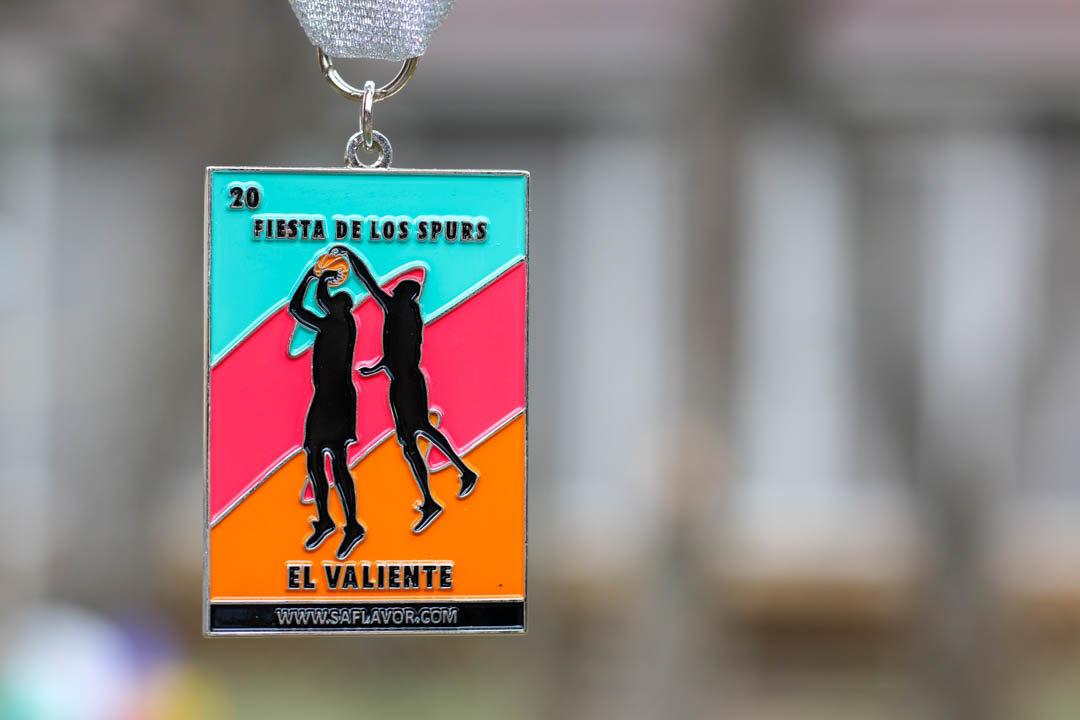 El Valiente 2018 Spurs Inspired Fiesta Medal by SA Flavor