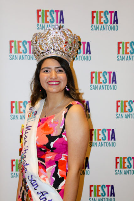 Miss Fiesta Carla Juarez at Fiesta 2018 Media Day.