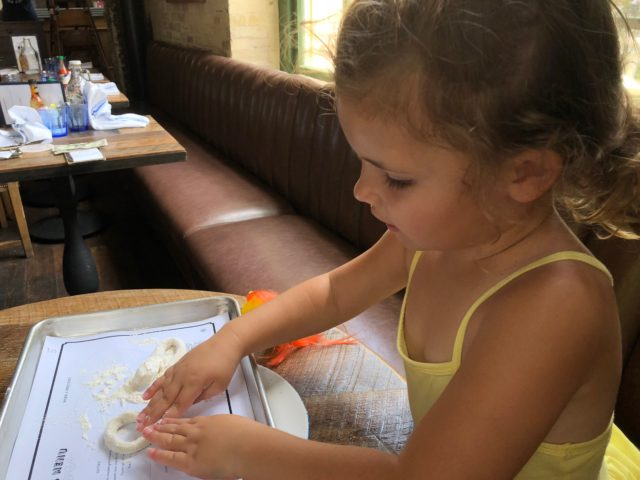 Natalie Making Pretzel at Southerleigh San Antonio Restaurant